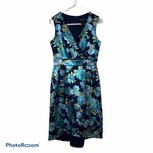 Enfocus Studio dress 4 Navy blue teal rose